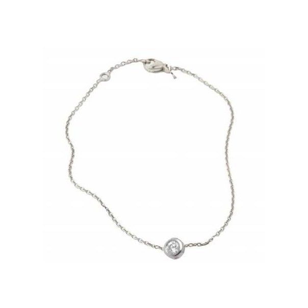 "White gold chain bracelet ""True love"""