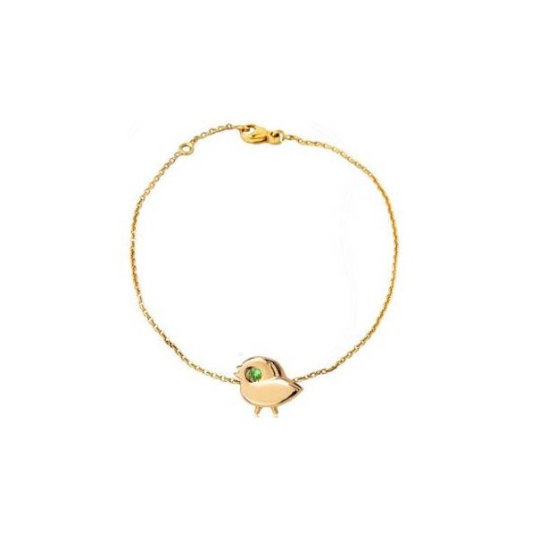 "Yellow gold chain bracelet ""My SPARROW"""