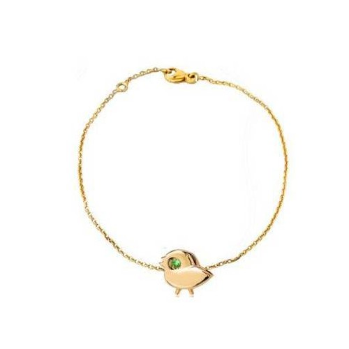"""Yellow gold chain bracelet """"My SPARROW"""" for child"""