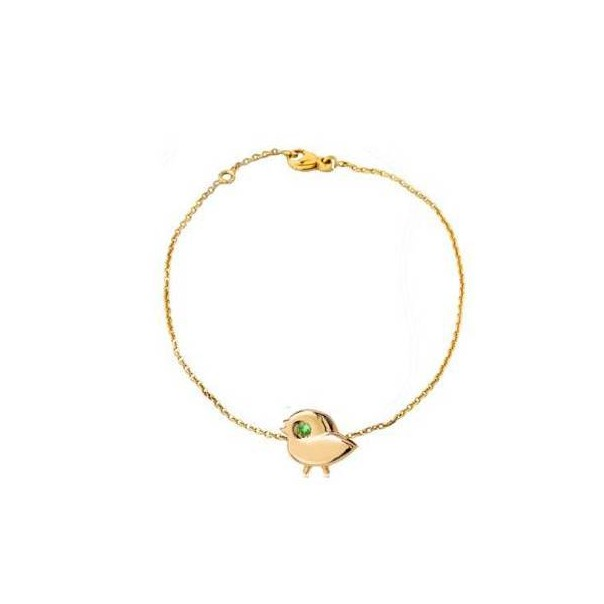 "Yellow gold chain bracelet ""My SPARROW"" for child"