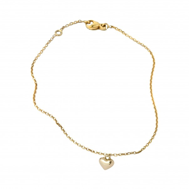 "Yellow gold chain bracelet ""Boum boum boum "" for child"