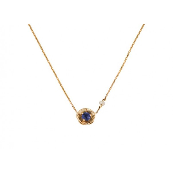 "Yellow gold necklace ""PANSY"" for child"