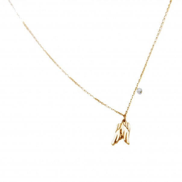 "Yellow gold necklace ""EFFORTLESSLY"" for child"