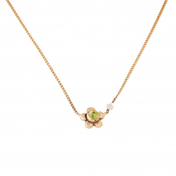 "Yellow gold necklace ""Daisy"" for child"