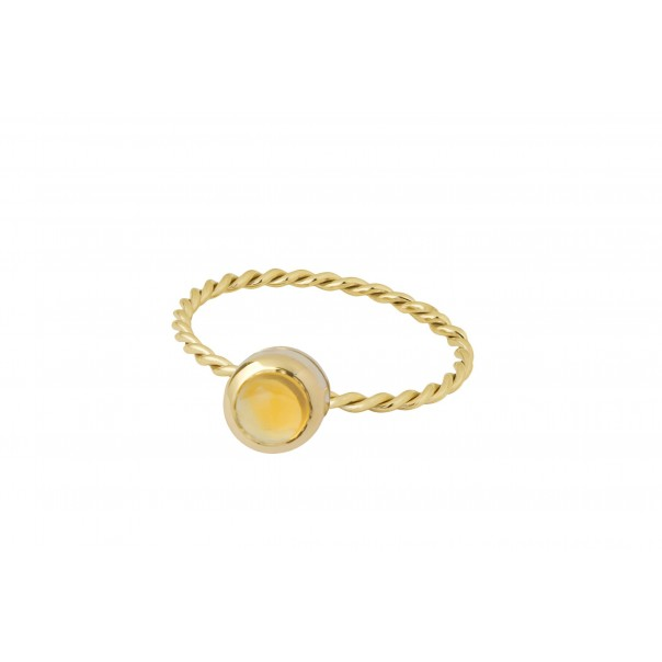 "Bague ""In The Air"" Or jaune et tourmaline jaune"