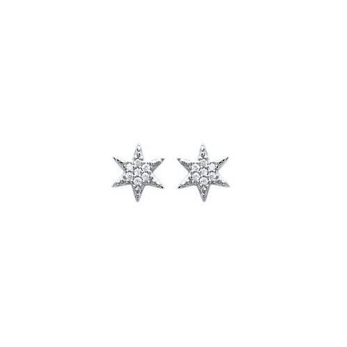 "B.O clou étoile et diamants argent ""star me up"""