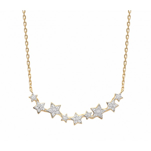 "Collier ""Star me up"" plaqué or"