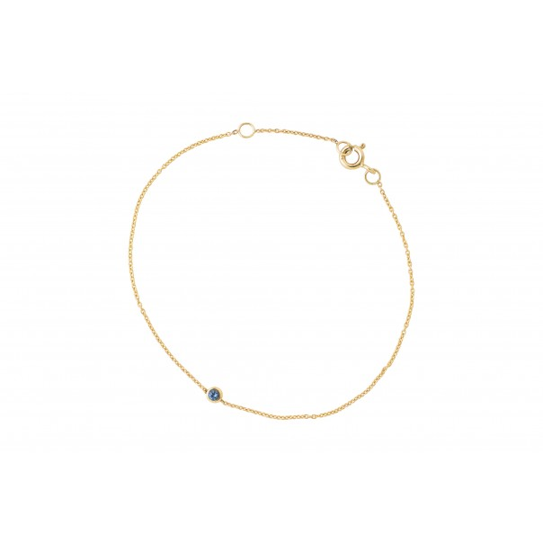 "Yellow gold chain bracelet ""True love"""