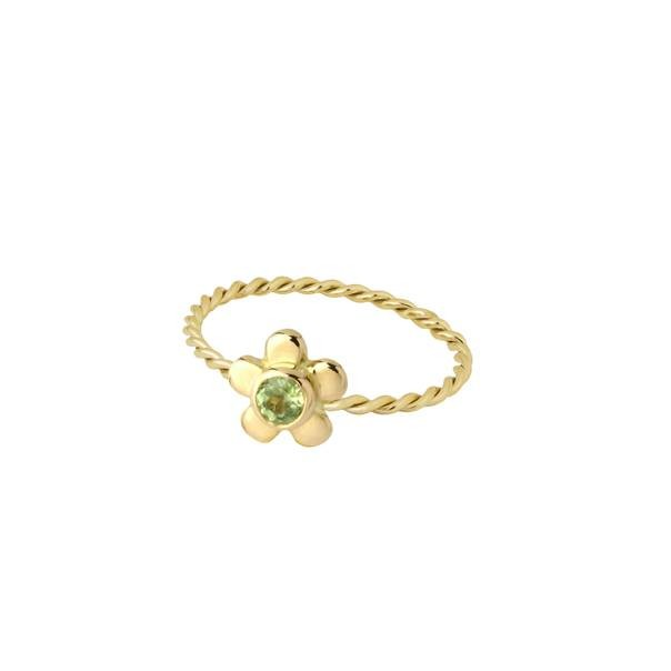 "Yellow gold ring ""Daisy"""