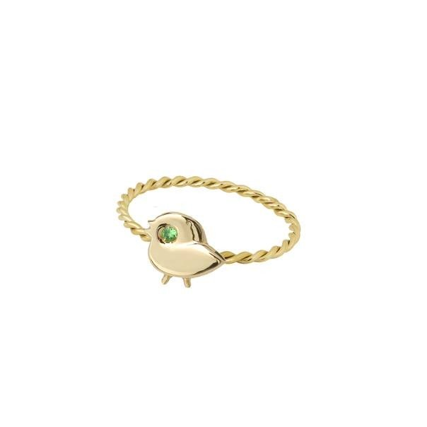 "Yellow gold ring ""My SPARROW"""