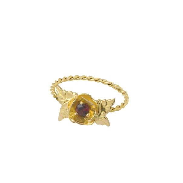 "Yellow gold ring "" THORNY """