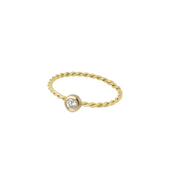 "Yellow gold ring ""TRUE LOVE"""