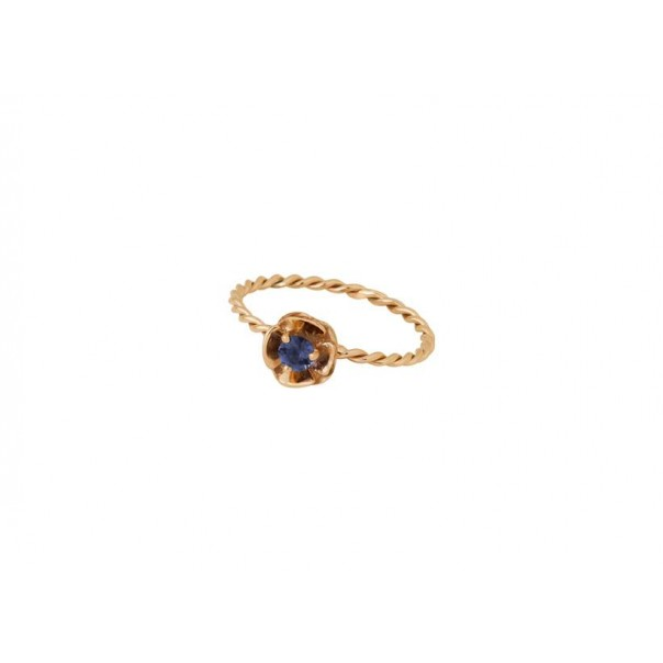 "Yellow gold ring ""PANSY"""