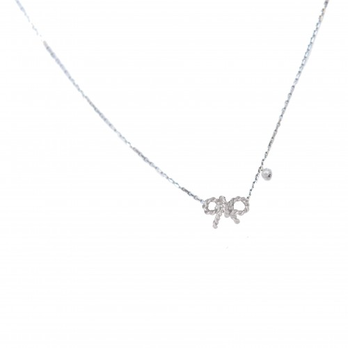 """White gold necklace """"Forever"""""""