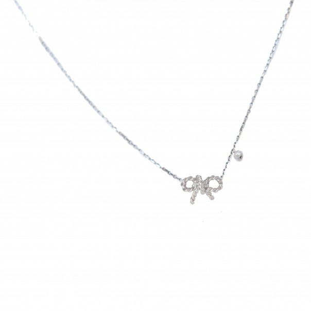 "White gold necklace ""Forever"""