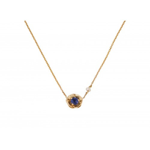 """Yellow gold necklace """"PANSY"""""""