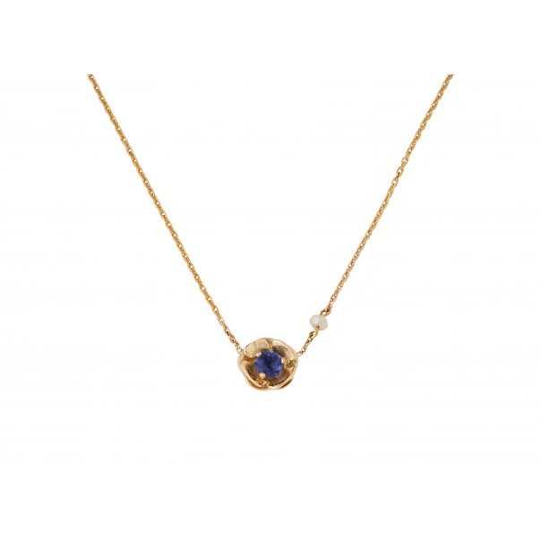 "Yellow gold necklace ""PANSY"""