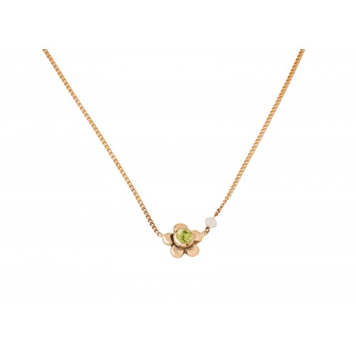 """Yellow gold necklace """"Daisy"""""""