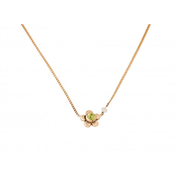 "Yellow gold necklace ""Daisy"""